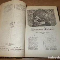 Libros antiguos: LA REINA SIN NOMBRE.CRÓNICA ESPAÑOLA DEL SIGLO VII / EL LAUREL DE LOS SIETE SIGLOS.M. FERNÁDEZ. 1865. Lote 133066606