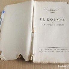 Libros antiguos: EL DONCEL DE DON ENRIQUE EL DOLIENTE. MARIANO JOSÉ DE LARRA (FÍGARO). EDITORA INTERNACIONAL, 1924.. Lote 133163362