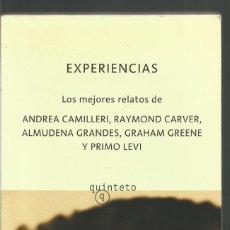 Libros antiguos: CAMILLERI.CARVER.GRANDES.GREENE.PRIMO LEVI.EXPERIENCIAS.QUINTETO.(2002). Lote 133212558
