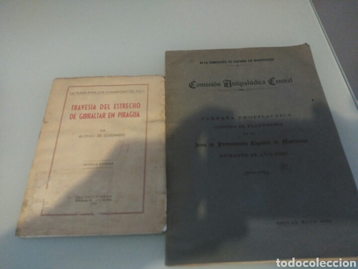 LIBRO TRAVESIA DEL ESTRECHO DE GIBRALTAR EN PIRAGUA LOTE (Libros Antiguos, Raros y Curiosos - Ciencias, Manuales y Oficios - Otros)