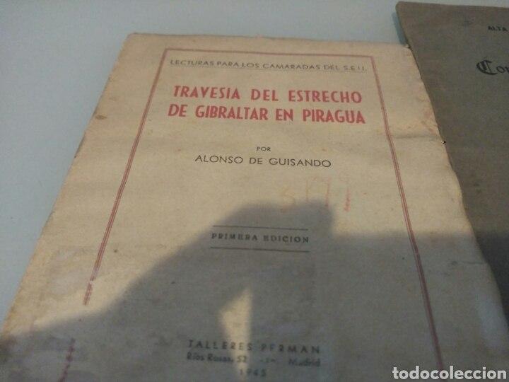 Libros antiguos: Libro travesia del estrecho de Gibraltar en piragua lote - Foto 2 - 133227411