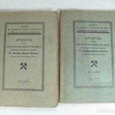 Libros antiguos: APUNTES DE LAS LECCIONES DE LABOREO DE MINAS + ATLAS. CANDIDO GARCIA ALVAREZ. MIERES. ASTURIAS. 193. Lote 133661002