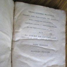 Libros antiguos: OBSERVACIONES PRACTICAS SOBRE LOS RECURSOS DE FUERZA - POR EL CONDE DE LA CAÑADA 1794. Lote 133671022