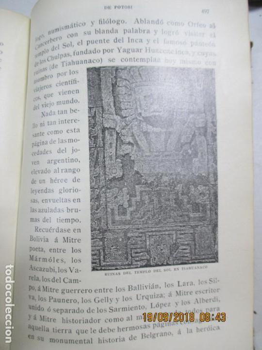 Libros antiguos: LA VILLA IMPERIAL DE POTOSÍ. BROCHA GORDA, JULIO L. JAIMES. BUENOS AIRES. 1905. NUMEROSOS RETRATOS - Foto 8 - 133693738