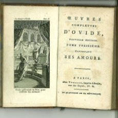 Libros antiguos: OEUVRES COMPLETES D'OVIDE, NOUVELLE EDITION. TOME TREIZIÉME. Lote 133794210