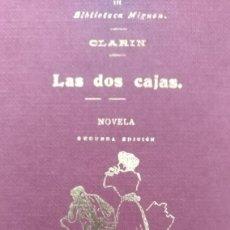 Libros antiguos: IMPECABLE ESTUCHE CON FÁCSIMIL NO VENAL Y NUMERADO A MANO, LAS DOS CAJAS DE CLARÍN. Lote 133914578