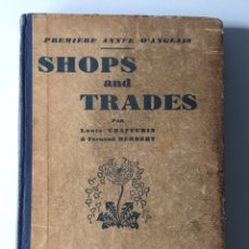 Libros antiguos: SHOPS AND TRADES CHAFFURIN HERBERT LAROUSSE PARIS. Lote 133979238