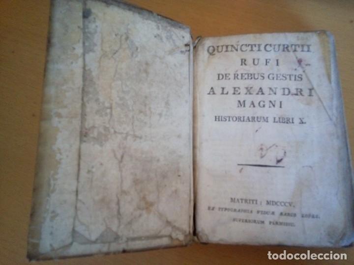 Libros antiguos: QUINCTI CURTII RUFI DE REBUS GESTIS ALEXANDRI MAGNI HISTORIARUM LIBRI X - Foto 2 - 130242234