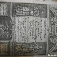 Libros antiguos: DISCURSOS DE LA NOBLEZA DE ESPAÑA. BERNABE MORENO DE VARGAS. 1636. Lote 134163486