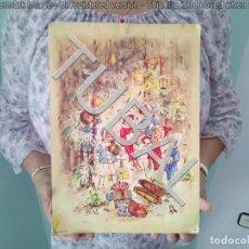 Libros antiguos: TUBAL ANTIGUO CALENDARIO DE ADVIENTO AÑOS 50 34X24 CM 350 GRS. Lote 134165374