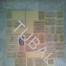 Libros antiguos: TUBAL SEVILLA COLECCION 38 ESQUELAS AÑOS 70 Y 80 350 GRS . Lote 134165758