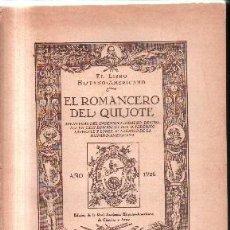 Livres anciens: EL ROMANCERO DEL QUIJOTE. A-CERVAN-105. Lote 134169442