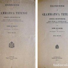 Libros antiguos: COURTOIS, VICTOR. ELEMENTOS DE GRAMMATICA TETENSE. LINGUA CHI-NYUNGUE. IDIOMA FALLADO NO... 1900.. Lote 134178854