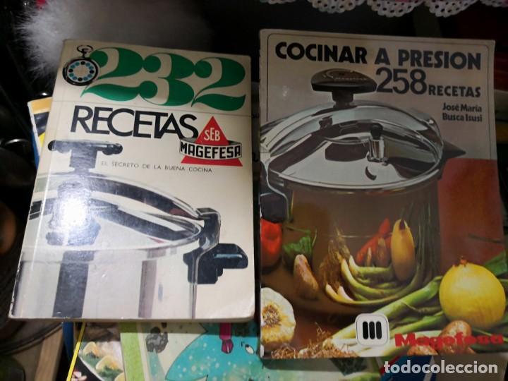 LOTE DE CINCO LIBROS RECETAS PARA OLLA A PRESIÓN (Libros Antiguos, Raros y Curiosos - Cocina y Gastronomía)