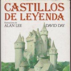 Libros antiguos: CASTILLOS DE LEYENDAS, POR: DAVID DAY E ILUSTRACIONES DE ALAN LEE. 190 PÁGINAS.. Lote 134262190
