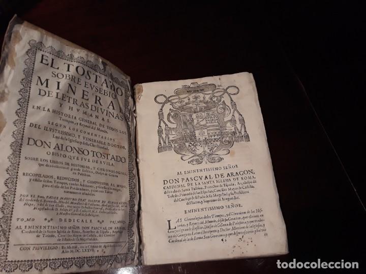 EL TOSTADO SOBRE EUSEBIO- SEGUN COMENTARIOS DE D.ALONSO TOSTADO.AÑO 1677 EN MADRID MELCHOR SANCHEZ (Libros Antiguos, Raros y Curiosos - Historia - Otros)