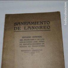 Libros antiguos: SANEAMIENTO DE LANGREO. FERNANDO CASARIEGO. 1918. Lote 134412518