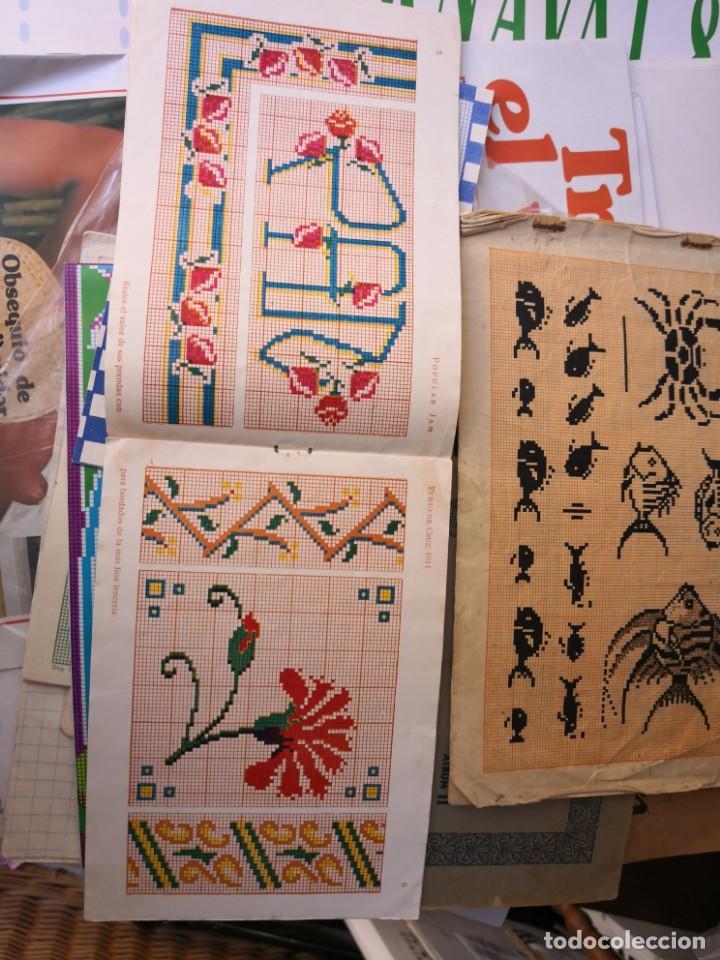 Libros antiguos: revista punto de cruz de popular Jam año 1958 - Foto 6 - 134562330