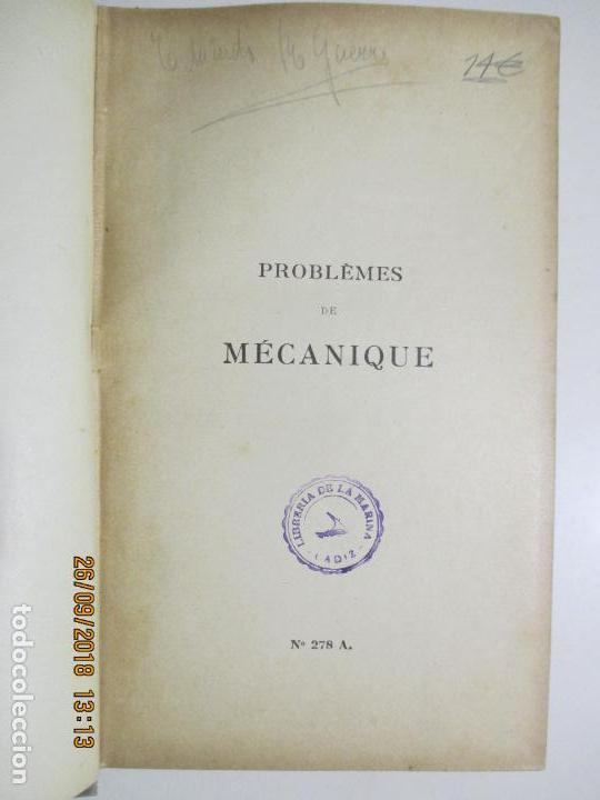 Libros antiguos: PROBLÈMES DE MÉCANIQUE PAR EDMOND GABRIEL. SOLUTIONNAIRE. TOME I ET TOME II. 1924 - Foto 2 - 134563662
