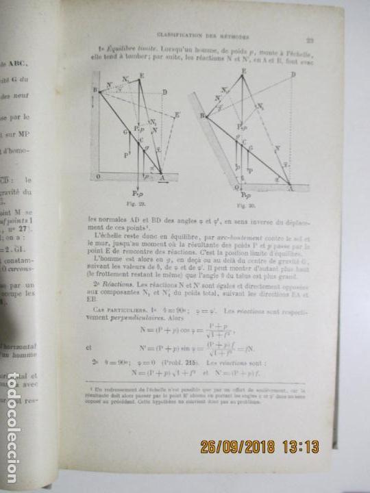 Libros antiguos: PROBLÈMES DE MÉCANIQUE PAR EDMOND GABRIEL. SOLUTIONNAIRE. TOME I ET TOME II. 1924 - Foto 3 - 134563662