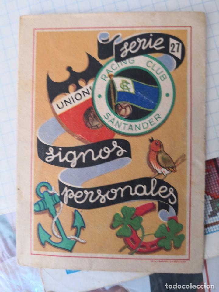 LIBRILLO SERIE 27 DE SIGNOS PERSONALES. RACING CLUB SANTANDER. ALGODÓN LASO ÁNCORA. 13 X 9CM (Libros Antiguos, Raros y Curiosos - Ciencias, Manuales y Oficios - Otros)