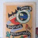 Libros antiguos: LIBRILLO SERIE 27 DE SIGNOS PERSONALES. RACING CLUB SANTANDER. ALGODÓN LASO ÁNCORA. 13 X 9CM. Lote 134566178