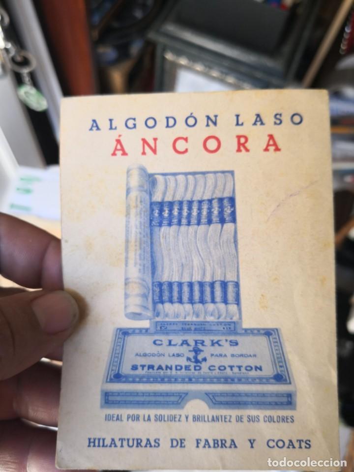 Libros antiguos: Librillo SERIE 27 DE SIGNOS PERSONALES. RACING CLUB SANTANDER. ALGODÓN LASO ÁNCORA. 13 x 9cm - Foto 4 - 134566178