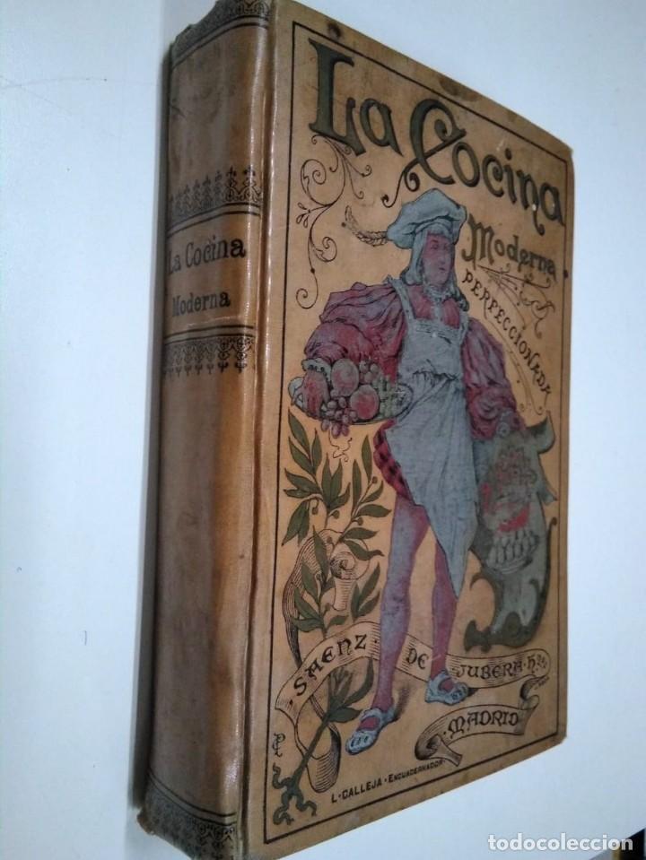 Libros antiguos: La cocina moderna perfeccionada. Saenz de Jubera. Principios siglo XX. 1900 aprox - Foto 2 - 134638818