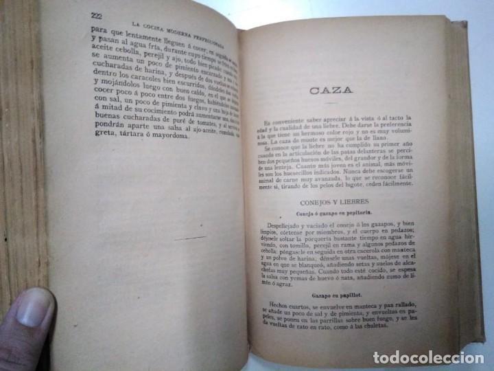 Libros antiguos: La cocina moderna perfeccionada. Saenz de Jubera. Principios siglo XX. 1900 aprox - Foto 5 - 134638818