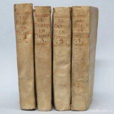 Libros antiguos: 1799.- EL EVANGELIO EN TRIUNFO O HISTORIA DE UN FILOSOFO DESENGAÑADO. PABLO OLAVIDE. 4 T. COMPLETA. Lote 134861010