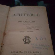 Libros antiguos: EL CRITERIO 1890. Lote 135037874
