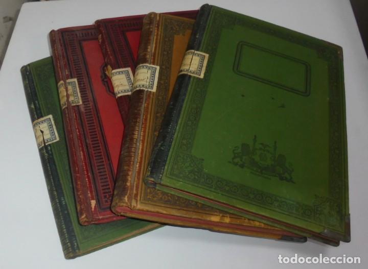 CADIZ. ASOCIACION GADITANA DE LA CARIDAD. LOTE DE 5 LIBROS DE CUENTAS. LEER DESCRIPCION. VER (Libros Antiguos, Raros y Curiosos - Ciencias, Manuales y Oficios - Otros)