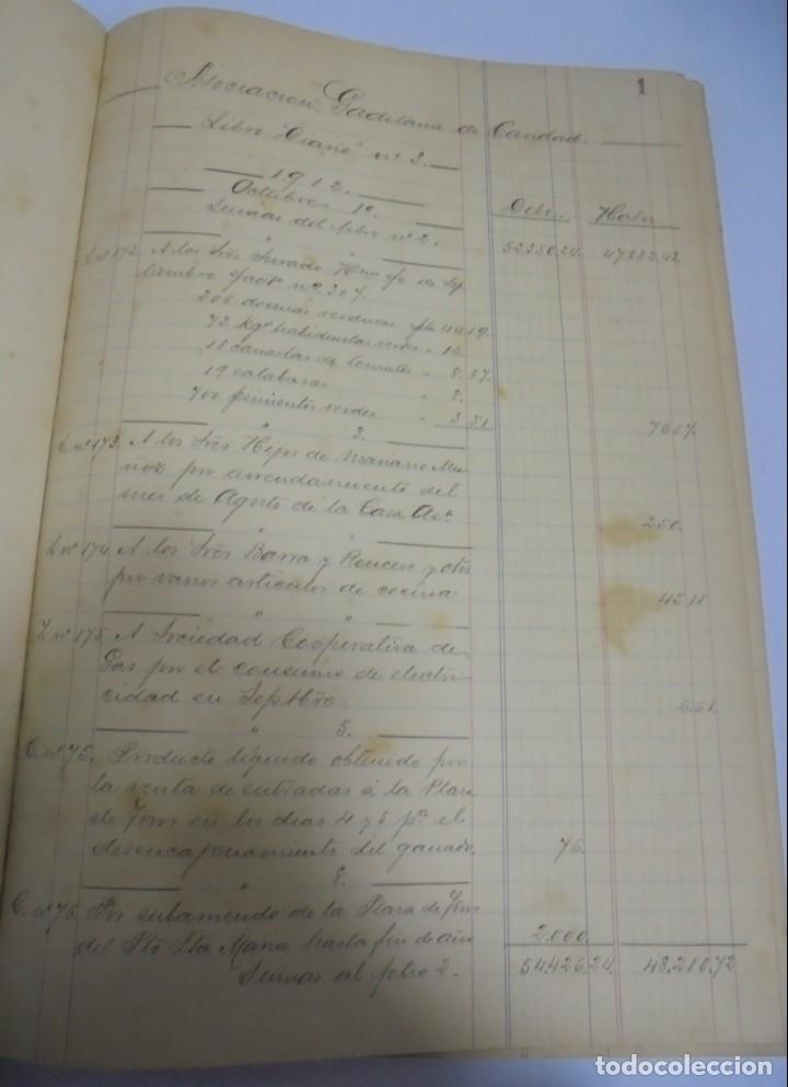 Libros antiguos: CADIZ. ASOCIACION GADITANA DE LA CARIDAD. LOTE DE 5 LIBROS DE CUENTAS. LEER DESCRIPCION. VER - Foto 5 - 135091078