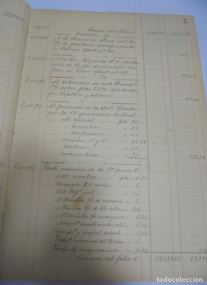 Libros antiguos: CADIZ. ASOCIACION GADITANA DE LA CARIDAD. LOTE DE 5 LIBROS DE CUENTAS. LEER DESCRIPCION. VER - Foto 7 - 135091078