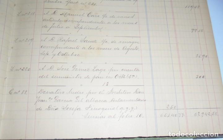Libros antiguos: CADIZ. ASOCIACION GADITANA DE LA CARIDAD. LOTE DE 5 LIBROS DE CUENTAS. LEER DESCRIPCION. VER - Foto 8 - 135091078