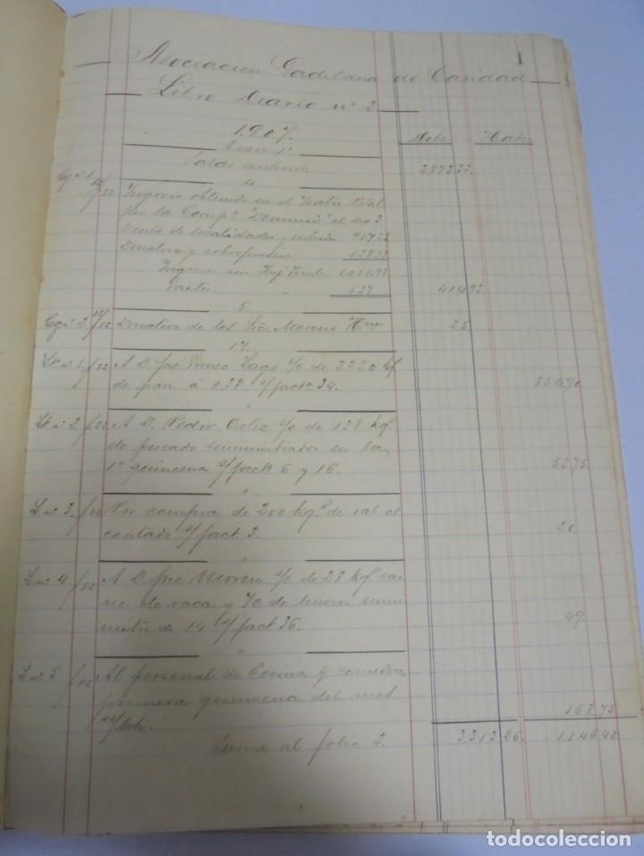 Libros antiguos: CADIZ. ASOCIACION GADITANA DE LA CARIDAD. LOTE DE 5 LIBROS DE CUENTAS. LEER DESCRIPCION. VER - Foto 29 - 135091078