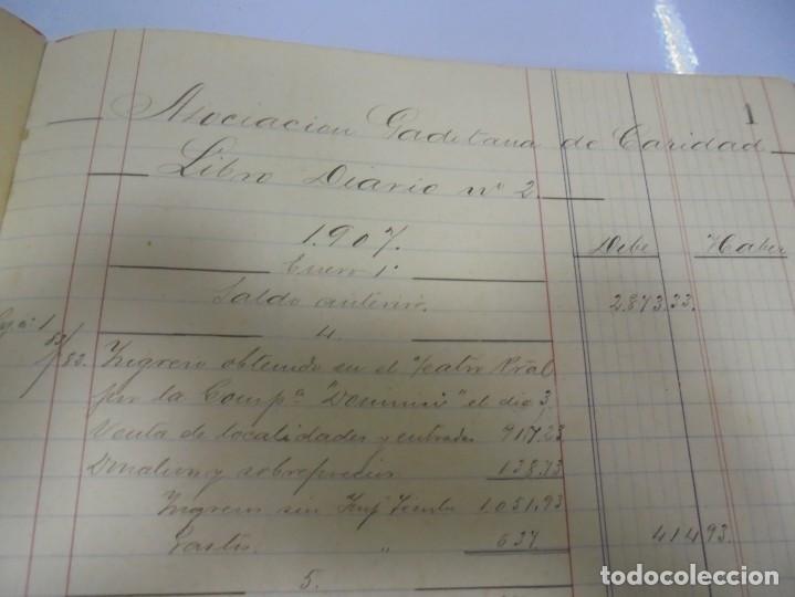 Libros antiguos: CADIZ. ASOCIACION GADITANA DE LA CARIDAD. LOTE DE 5 LIBROS DE CUENTAS. LEER DESCRIPCION. VER - Foto 30 - 135091078