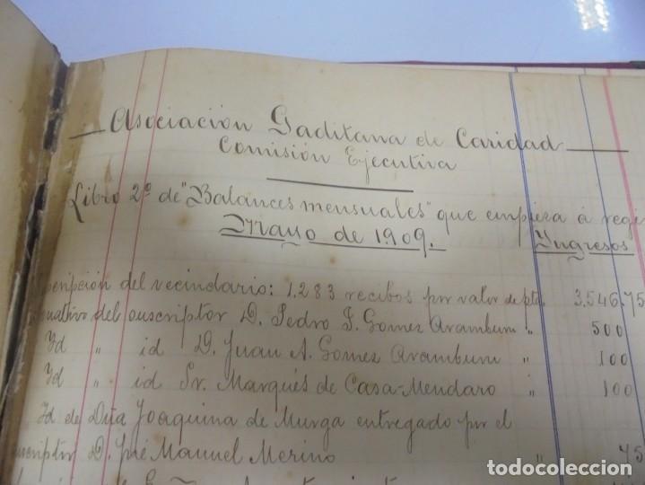 Libros antiguos: CADIZ. ASOCIACION GADITANA DE LA CARIDAD. LOTE DE 5 LIBROS DE CUENTAS. LEER DESCRIPCION. VER - Foto 63 - 135091078