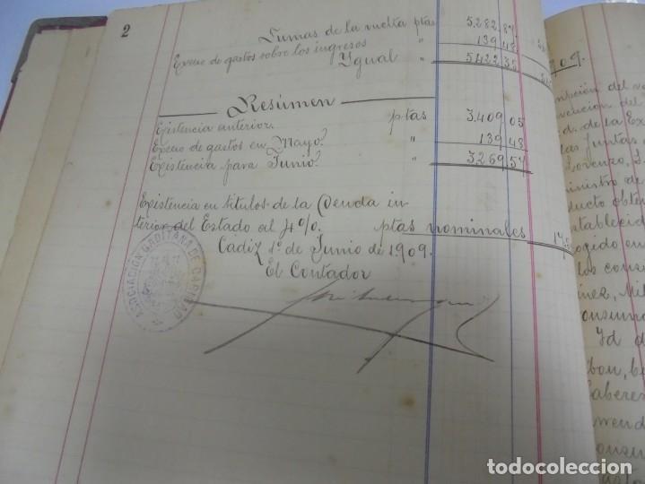 Libros antiguos: CADIZ. ASOCIACION GADITANA DE LA CARIDAD. LOTE DE 5 LIBROS DE CUENTAS. LEER DESCRIPCION. VER - Foto 64 - 135091078