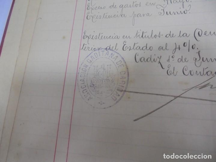 Libros antiguos: CADIZ. ASOCIACION GADITANA DE LA CARIDAD. LOTE DE 5 LIBROS DE CUENTAS. LEER DESCRIPCION. VER - Foto 65 - 135091078