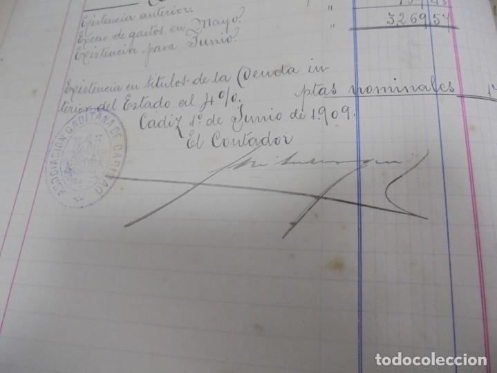 Libros antiguos: CADIZ. ASOCIACION GADITANA DE LA CARIDAD. LOTE DE 5 LIBROS DE CUENTAS. LEER DESCRIPCION. VER - Foto 66 - 135091078