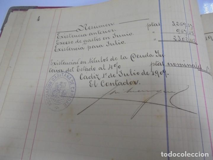 Libros antiguos: CADIZ. ASOCIACION GADITANA DE LA CARIDAD. LOTE DE 5 LIBROS DE CUENTAS. LEER DESCRIPCION. VER - Foto 67 - 135091078