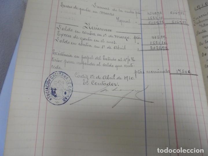 Libros antiguos: CADIZ. ASOCIACION GADITANA DE LA CARIDAD. LOTE DE 5 LIBROS DE CUENTAS. LEER DESCRIPCION. VER - Foto 79 - 135091078