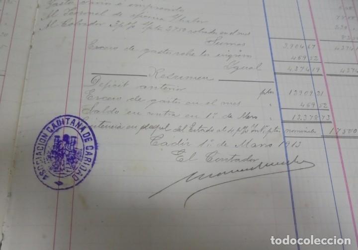 Libros antiguos: CADIZ. ASOCIACION GADITANA DE LA CARIDAD. LOTE DE 5 LIBROS DE CUENTAS. LEER DESCRIPCION. VER - Foto 89 - 135091078