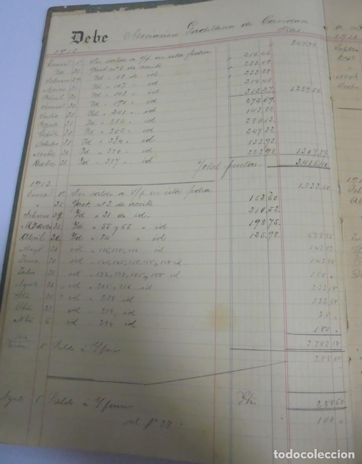 Libros antiguos: CADIZ. ASOCIACION GADITANA DE LA CARIDAD. LOTE DE 5 LIBROS DE CUENTAS. LEER DESCRIPCION. VER - Foto 98 - 135091078