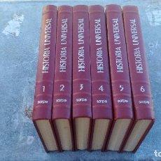 Libros antiguos: HISTORIA UNIVERSAL - EDITORIAL SARPE - 6 TOMOS - OBRA COMPLETA. Lote 135219962