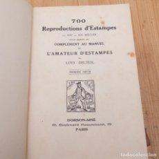 Libros antiguos: LOYS DELTEIL - MANUEL DE L´AMATEUR D´ESTAMPES DES SIECLE XIX ET XX - 2 TOMOS CONTIENEN 700 LÁMINAS. Lote 135320310