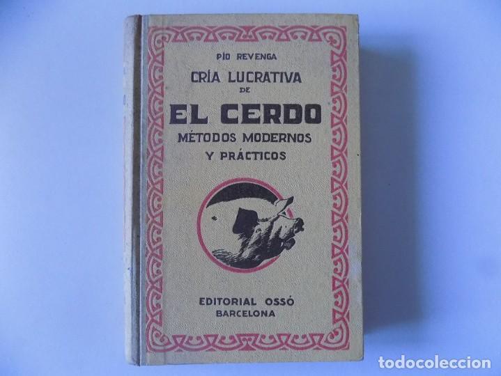 LIBRERIA GHOTICA. PIO REVENGA. CRIA LUCRATIVA DE EL CERDO.1953. ILUSTRADO CON GRABADOS. (Libros Antiguos, Raros y Curiosos - Cocina y Gastronomía)