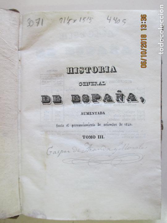 Libros antiguos: HISTORIA DE ESPAÑA ESCRITA POR EL PADRE JUAN DE MARIANA. CONDE DE TORENO. MADRID 1841 - Foto 2 - 135504950
