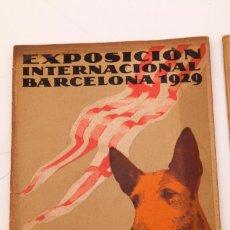 Libri antichi: EXPOSICIÓN CANINA - 5 PIEZAS - CATÁLOGO - REGLAMENTO - 2 HOJAS DE INSCRIPCIÓN - PROGRAMA 1929. Lote 135513830
